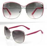 Quality UV Protection Fashion Women Metal Frame Sunglasses with Polarized Lens wholesale