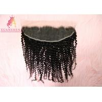 China Cuticle Aligned Raw Hair Deep Curly 13*4 Virgin Frontal Silky Lace Frontals on sale