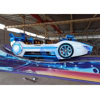 Quality Indoor Outdoor Track Type Theme Park Equipment , Fun Ride F1 Flying Car Rides For Kids wholesale