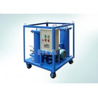 China Carbon Steel Portable Hydraulic Oil Filtration Unit With Electric Control Panel on sale