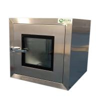 China Ordinary Cleanroom pass through box with mechanical Interlock embedded door on sale