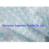 Quality Blue Color GGT Jacquard Swiss Dot Polyester Chiffon 2400T 75D wholesale
