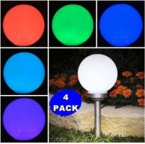 Quality PMMA RGB Changing clolr  Globe Solar Lights , Color Changing Solar LED Ball Lights wholesale