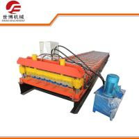 Quality Metal Decking Floor Trapezoid Sheet Cold Roll Forming Machine PLC Control Style wholesale