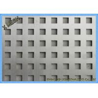 China Square Holes Perforated Metal Panel Facade SS Plates Excellent Visibility on sale