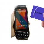 Quality LF125Khz 4G LTE Android Handheld RFID Scanner D/2D Laser Reader Writer 1.3Ghz wholesale