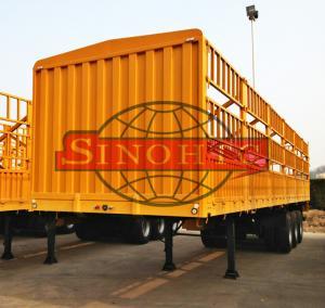 Quality Tri Axle Container Semi Trailer 50 Tons Bulk Stake Livestock Semi Trailers wholesale