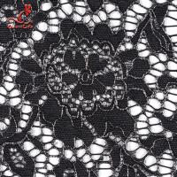 Cheap African French Nylon Lace Fabric For Garment Light Color Fastness for sale