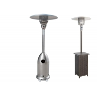 China Outdoor Silver Flexible Propane Gas Electric outdoor mushroom patio heater on sale