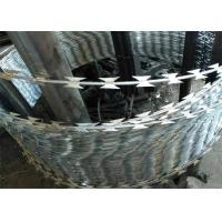 Quality Heavy Galvanized Sharp Razor Barbed Wire For High Security Place wholesale