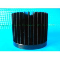 China Black Led Aluminum Heat Sink Cold Forging And Amodic Oxidation,60mm Dia on sale