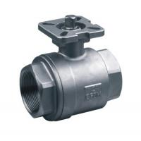 China 2PC ISO 5211 Cast Steel Ball Valve Easy Operated With Direct Mounting Pad on sale