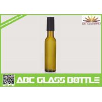 Quality Factory sale 200ml empty wine glass bottle,custom frosted wine bottle with wooden cap wholesale