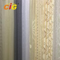 Quality 100 Polyester Lace Curtain Fabric , Lace Table Cloth Upholstery Fabric 50-200gsm Weight wholesale