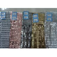 China Colorful Luxury Sequin Mesh Fabric , Trimming Metallic Mesh Fabric Cloth on sale