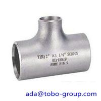 seamless Stainless Steel Tee , single slit pipe wall thickness 1 / 2  NPS Sch5S to 24OD x30mm