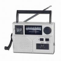 China Self-powered Weather Band Radio with Reading Light and Portable, Measuring 185 x 54 x 136mm on sale