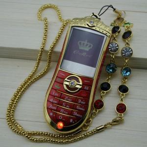 Quality A8 Retro Style Mobile Phone Unique Gold Diamond Crown  Dual Sim Lady Girl Phone wholesale