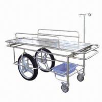 Stainless Steel Stretcher Trolley, Measures 1,950 x 650 x 780mm