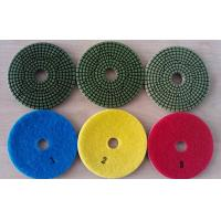 Quality Green Type 3 Steps 4 Inch Wet Diamond Floor Polishing Pads For Granite Marble wholesale