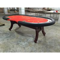 Cheap Wood 10 Person High Top Texas Holdem Poker Table