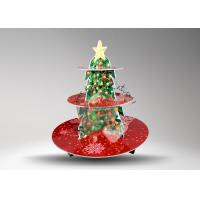 China Light weight 3 Tier Round wedding cake stand / Party Paper Cake Stands on sale
