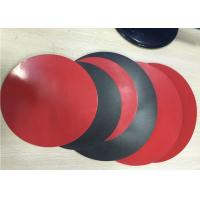 Quality 1.8mm Thick 3003 Aluminum Circle Sheet Red Teflone Coating 250mm Corrosion Resistance wholesale