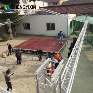 China portable aluminium light four round leg simple wedding rectangle stage Aluminum stage platform on sale