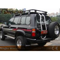 Quality W0709 Black Vehicle Luggage Rack Fit Car With Rain Gutter 300kgs Loading Capacity wholesale