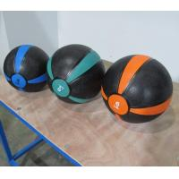 China Crossfit Two Color Bouncing Medicine Ball Rubber Material OEM Logo on sale