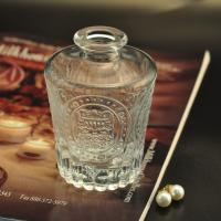 Quality 150 ml Reed diffuser glass aroma bottle with emboss pattern for air freshener wholesale