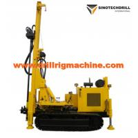 Rotary Drill Rig Machine For Water Well , Crawler Drilling Rig Geothermal Air Conditioner Hole