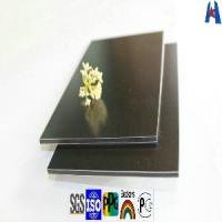 China Transparent Coffee High Gloss PE Coating Aluminum Composite Wall Panel (XH20120815) on sale