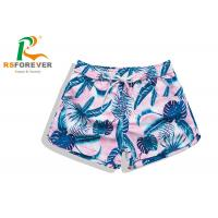 Quality OEM Customized Waterproof Breathable board shorts / women swim trunks women with drawstring and pocket wholesale