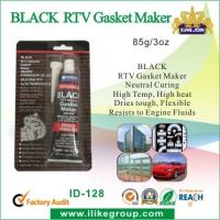 China High Temp Silicone Rubber Sealant , Black RTV Gasket Maker For Vehicle Body on sale