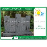 Cheap Music Waterfall Cast Stone Garden Fountains For Indoor / Outdoor Use 230 * 60 * 200cm for sale