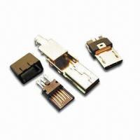 Quality Micro USB Connector with Minimum Insulation Resistance of 100M Ohms wholesale