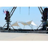 Quality Dynamics Fabric Cable Tensile Shade Structures For Outdoor Stage FireProof wholesale