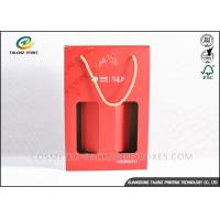 Quality Custom Made Kraft Packaging Boxes Corrugated Storage Boxes With Ribbon Handles wholesale