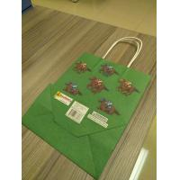 China Custom design of kraft Paper Bags, Paper bags with twisted paper handle on sale