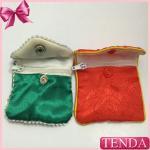 Quality Women Men Girls Boys Children Zipper Zipped Pattern Satin Silk Silky Cotton Pouch Purse Bags Pack Pocket wholesale