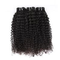 Natural Color Peruvian Body Wave Hair Bundles Curly Dancing And Soft 10 To 30 Stock