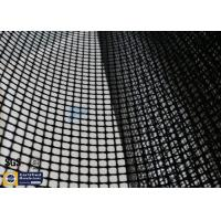 Quality PTFE Coated Fiberglass Mesh Fabric 4X4MM 580GSM Black Conveyor Belt Roll wholesale