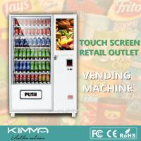 Buy cheap Touch Screen Library Healthy Vending Machines Retailing Snack Foods Drinks Center product