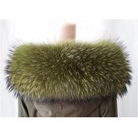 Quality Extra Large Raccoon Furry Necks Collars ,  Warm Dyed Winter Coat Replacement Fur Collar  wholesale