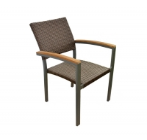 Quality Aluminum 86cm Height 59cm Depth Rattan Garden Chairs For Cafe Shop wholesale