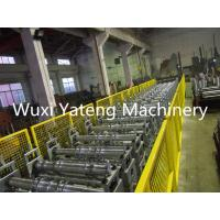Galvanized Steel Floor Deck Roll Forming Machine 28 Roller Station Customised Size