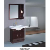 Quality Solid oak bathroom furniture single vanity sink cabinet 800 * 450 * 850mm Dimensions wholesale