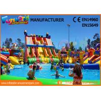 China Outdoor Inflatable Water Parks Slide With Pool One Year Warranty on sale