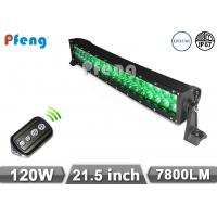 Quality 21.5 Inch Curved 120W Led Light Bar Green White Strobe Lighting Bar wholesale